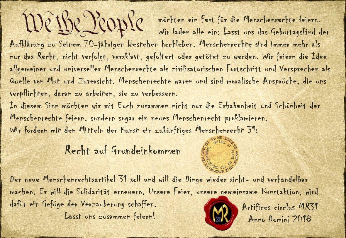 Einladung Grundeinkommen Feier in Nürnberg
